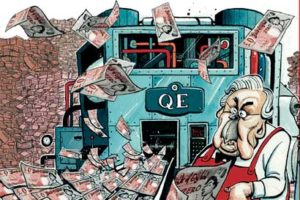 cartoon of quantitative easing